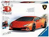 Ravensburger Puzzle 3D, Lamborghini Huracn EVO, 108 Piezas, Edad Recomendada 8+, Puzzle 3D Ravensburger