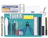 Poweka Kit de Herramientas Bsicas para Gundam Modeler, Herramientas Bsicas para Manualidades Construccin Artesana, Herramientas Profesionales para Gundam Modelo de Coche Edificio