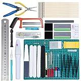 WiMas 64PCS Gundam Modeler Builder's Tools, Gundam Herramientas de Modelismo, Hobby Building Craft Set para Reparacin de Modelos Bsicos