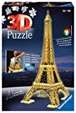 Ravensburger - 3D Puzzle Building Tour Eiffel Night (12579 1) , color, modelo surtido
