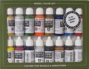 VALLEJO-3070101 70101 Model Set DE 16 Colores Surtido (3070101