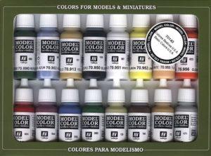 VALLEJO-3070140 70140 Model Set DE 16 Colores Surtido (3070140