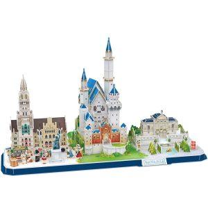 ubicFun Puzzle 3D Kits de construcción de Arquitectura de CityLine de Juguetes Regalo para niños y Adultos (Bavaria CityLine)