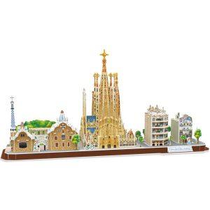 CubicFun Puzzle 3D City Line Barcelona (Tachan MC256h)