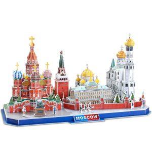 CubicFun Puzzle 3D Kits de construcción de Arquitectura de CityLine de Juguetes Regalo para niños y Adultos (Moscow CityLine)