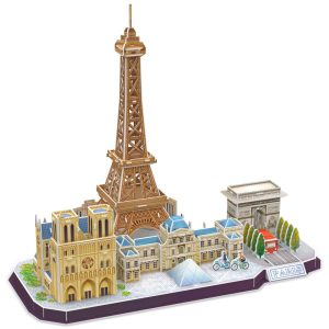 CubicFun Puzzle 3D London CityLine Juego de Regalo 2 en 1, Juego de Modelos de construcción , 107 Piezas