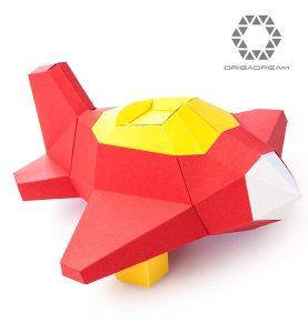 Paper Craft kit avión Rocket pre-cortado NUEVO PUZZLE 3D MODERNO montar por uno mismo para la decoración DIY PAPERCRAFT escultura de papel low poly ORIGADREAM
