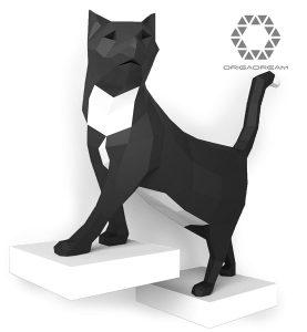 kit DIY PAPERCRAFT de Tom el gato pre-cortado NUEVO PUZZLE 3D MODERNO montar por uno mismo para la decoración de la pared escultura de papel low poly ORIGADREAM