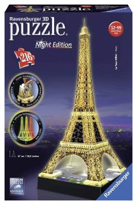 Ravensburger - 3D Puzzle Building Tour Eiffel Night (12579 1)