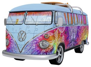 Ravensburger- VW Bus T1 Campervan Puzzle, Color Blanco/Rojo (Ravesnburger 12516)