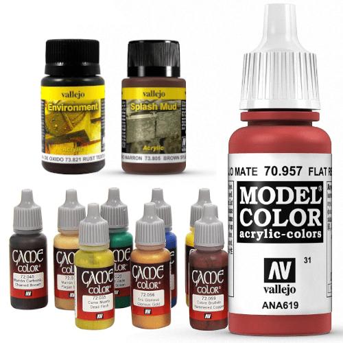 pintura para maqueta modelismo hobby pegamento tamiya revell Vallejo model air model color colores spray oxido