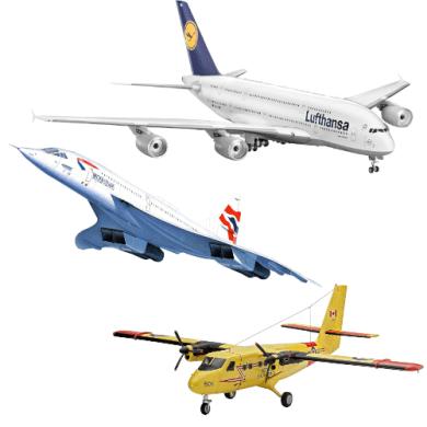 maquetas de aviones aeronautica Boeing Airbus helicópteros