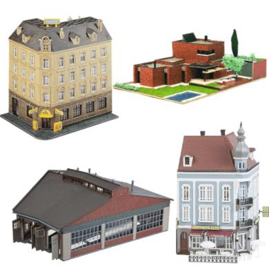 maquetas de edificios casas modelismo de estaciones