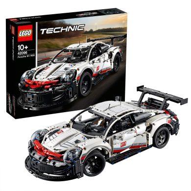 LEGO Technic - Porsche 911 RSR, maqueta de juguete de coche deportivo de carreras para construir (42096)