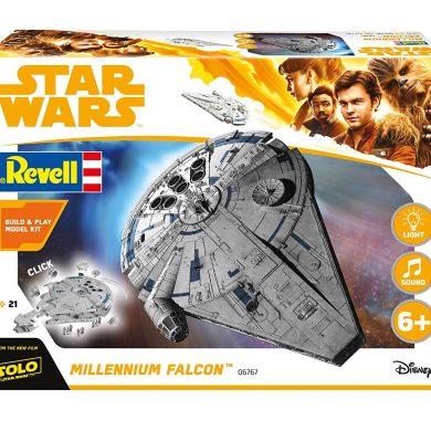 Revell Star Wars Solo Build & Play Millennium Falcon, con Luces y Sonidos, Escala 1:164 (6767)(06767), 23,5 cm de Largo
