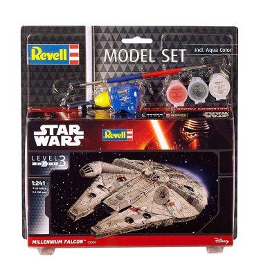 Revell Set-Maqueta de Star Wars Millennium Falcon, Escala 1: 241, Kit réplica exacta con Muchos Detalles, Model Juego con Base Accesorios, fá...