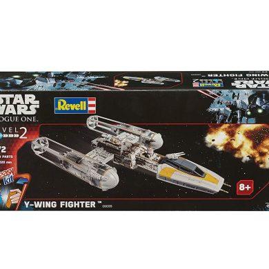 Revell- Maqueta Star Wars Y-Wing Fighter, Easy Kit Modelo, Escala 1:72 (6699)(06699), 22,1 cm de Largo