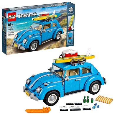 LEGO Creator Expert-Volkswagen Beetle, Set de Juguete construcción de Coche Escarabajo Azul (10252)