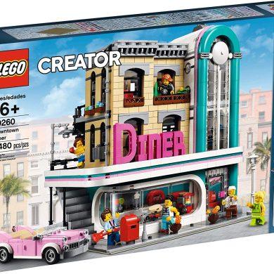 LEGO- Creator Expert-Restaurante del Centro, Juguete de construcción de Local Retro Estilo Art déco de los años 50 (10260)