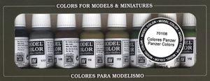 VALLEJO-3070108 70108 VALLEJO Model Color Set 8 Col, Surtido (3070108