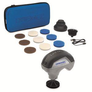 Dremel F013PC10JA Versa Limpiador de Alta Velocidad-Kit 9 Almohadillas Multifunción, 1 Cepillo de Cerdas y 1 Protector Antisalpicaduras para Limpieza...