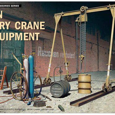 MiniArt 35589 5 Ton Gantry Crane & Equipment - Accesorios para maquetas de maqueta, Color Gris