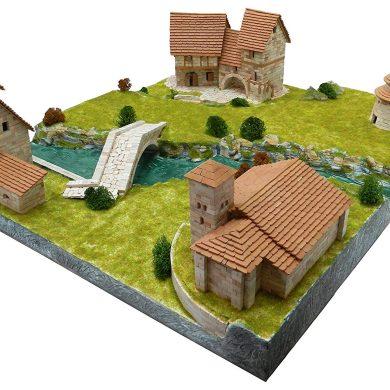 AEDES Set para dioramas Rurales en Caja de 37 x 26 x 7 cm 1456