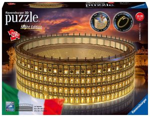 Ravensburger - Puzzle 3D Colosseo, edición nocturna (11148)