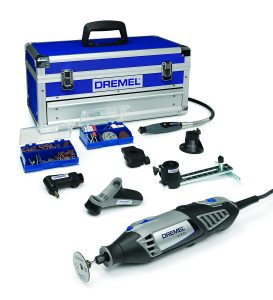 Dremel Platinum Edition 4000 - Multiherramienta, 175 W, kit con 6 complementos, 128 accesorios, velocidad 5.000 - 35.000 rpm para tallar, fresar, amolar,...