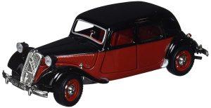Bburago- Citroën 15 CV TA Coche de Juguete, Color Negro/Rojo (18-22017BK/R)