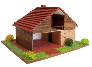 Keranova- Kit de cerámica Refugio Alpino, Color marrón (30220)