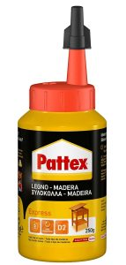 Pattex Cola para madera , de rápido secado y con un acabado transparente, 250 gr