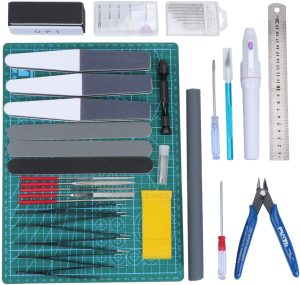 WiMas 33PCS Gundam Modeler Builder's Tools, Gundam Herramientas de Modelismo, Hobby Building Craft Set