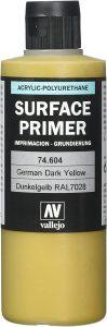Vallejo Polyurethane VAL74604 - Líquido para superficies, amarillo oscuro, 200 ml