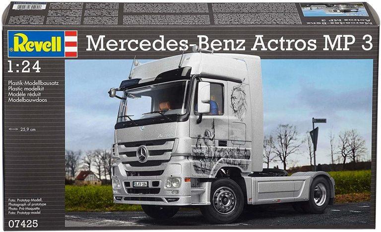 Revell-7425 Mercedes-Benz Actros Mp3, Color Plateado (07425)
