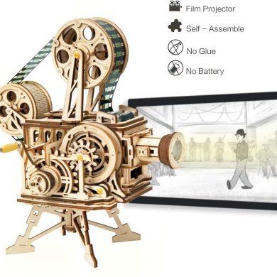 Robotime Mechanical Vitascope Kit - Rompecabezas de Madera de Corte por láser de Modelos de construcción - Juegos de Madera para niños.