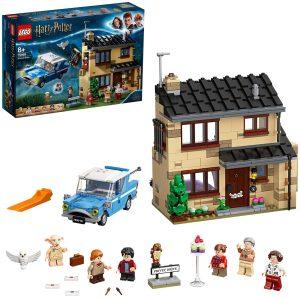 LEGO Harry Potter Número 4 de Privet Drive Set con Ford Anglia, Figura de Dobby y Familia Dursley, Multicolor