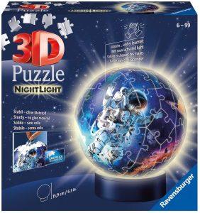 Ravensburger Puzzle Ravensburger 11264 - Luz Nocturna 3D de astronautas en el Espacio (72 Piezas, a Partir de 6 años), Multicolor