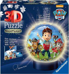 Ravensburger 11842 – Paw Patrol Luz nocturna – 72 piezas puzzle Ball , color, modelo surtido